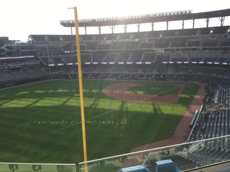 Seating view for Truist Park Section 344 Row 4 Seat 18