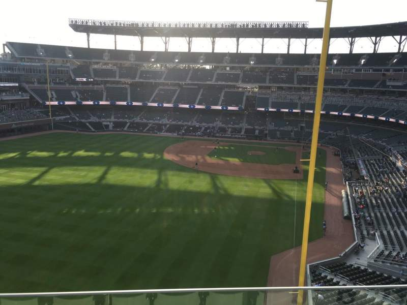 Seating view for Truist Park Section 345 Row 3 Seat 17