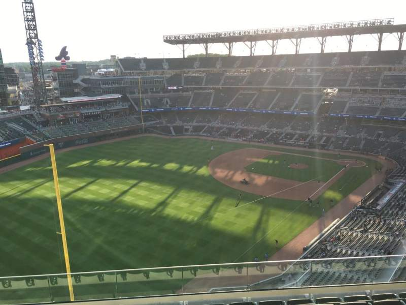 Seating view for Truist Park Section 443 Row 7 Seat 10