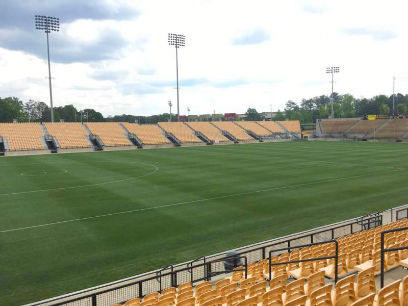 Seating view for Fifth Third Bank Stadium Section 102 Row L Seat 11