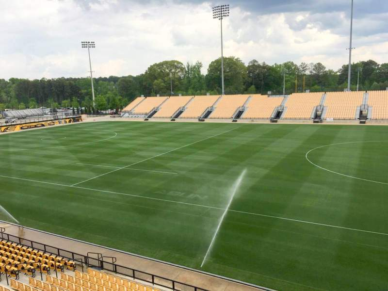 Seating view for Fifth Third Bank Stadium Section Outdoor Box Row 1