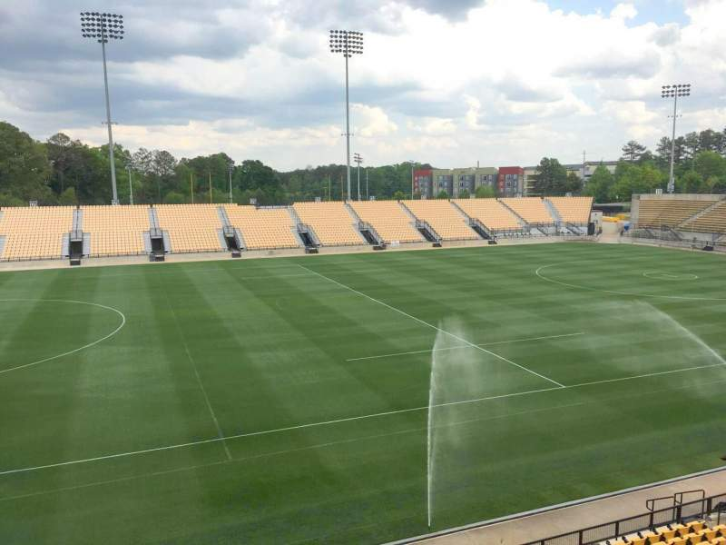 Seating view for Fifth Third Bank Stadium Section 104 Outdoor Bay Suite Row 1