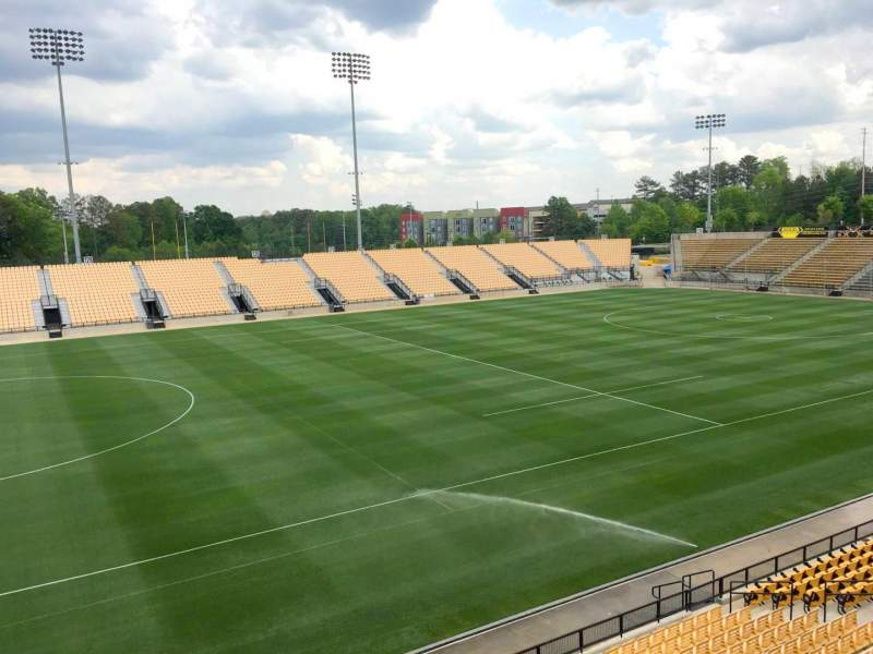 Seating view for Fifth Third Bank Stadium Section 103 Outdoor Bay Suite Row 1