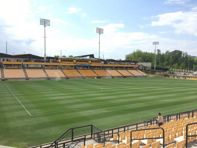 Seating view for Fifth Third Bank Stadium Section 121 Row R Seat 10