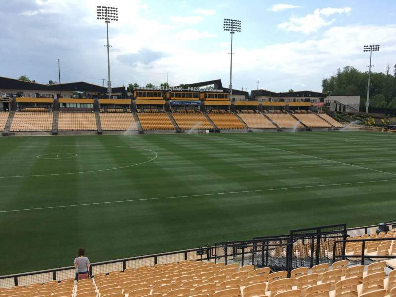 Seating view for Fifth Third Bank Stadium Section 123 Row R Seat 10