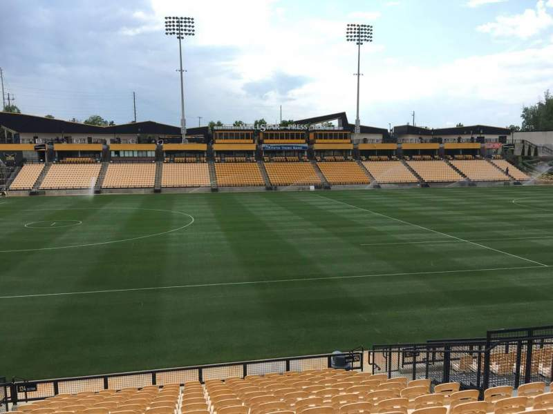 Seating view for Fifth Third Bank Stadium Section 124 Row R Seat 10