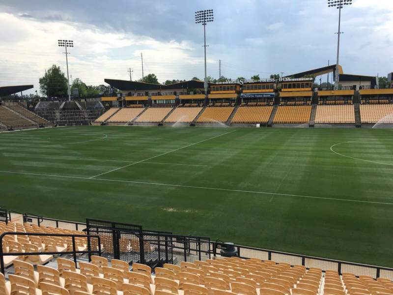 Seating view for Fifth Third Bank Stadium Section 128 Row R Seat 10