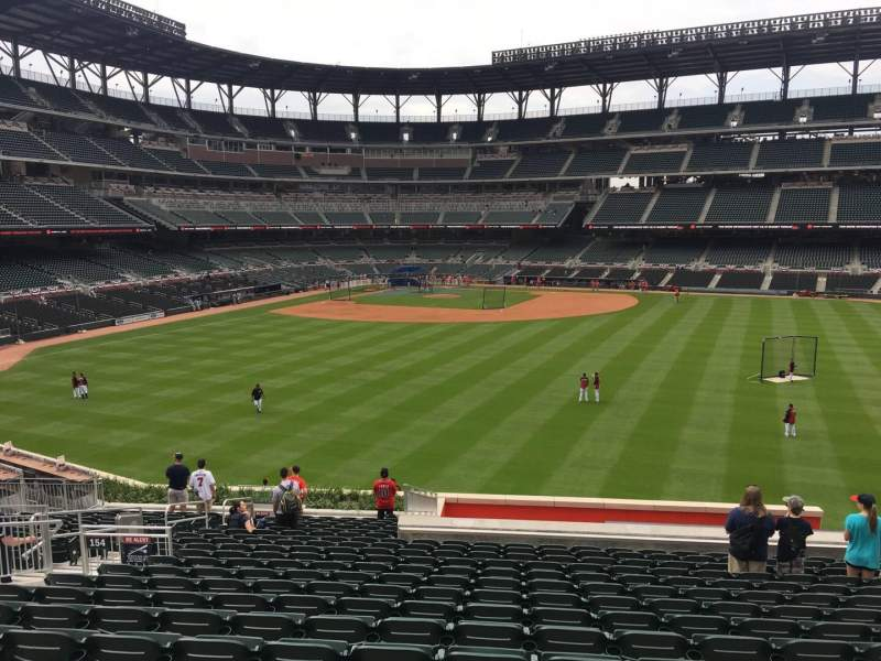 Seating view for Truist Park Section 154 Row 21 Seat 13