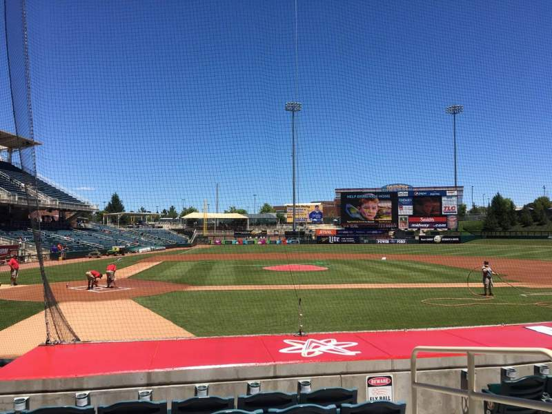 Seating view for Isotopes Park Section 108 Row J Seat 3