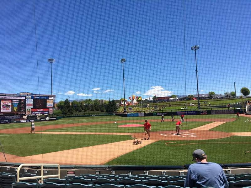 Seating view for Isotopes Park Section 103 Row H Seat 7