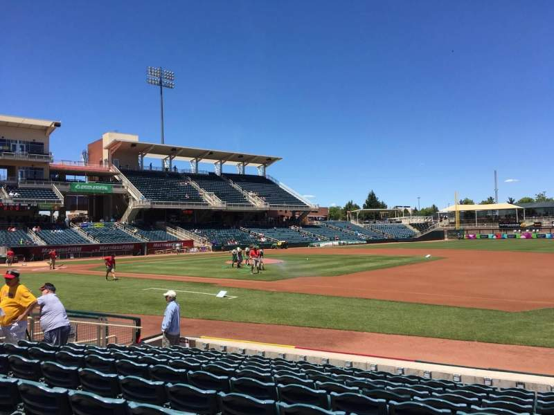 Seating view for Isotopes Park Section 116 Row K Seat 10