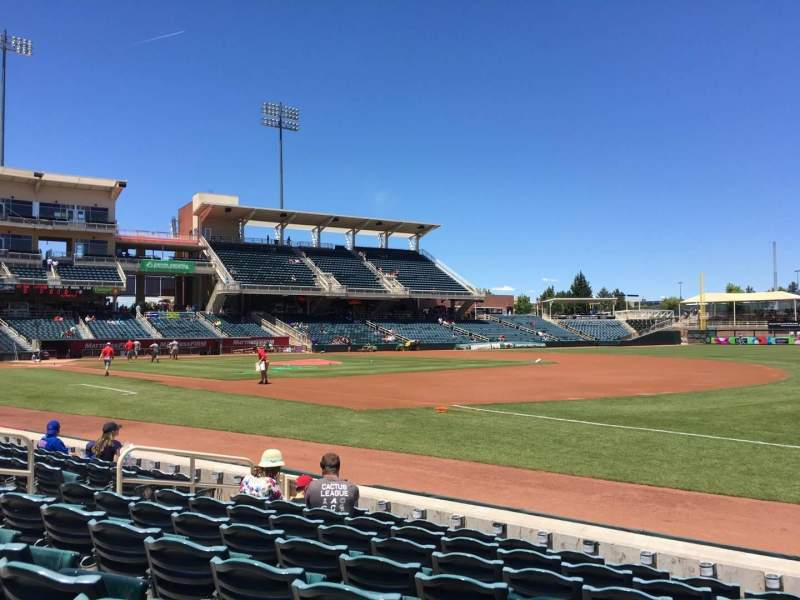 Seating view for Isotopes Park Section 118 Row G Seat 13