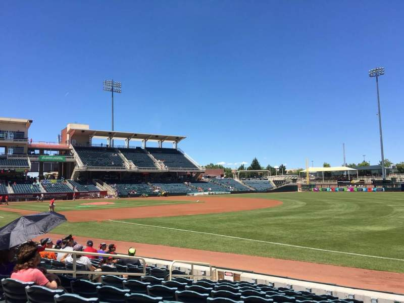 Seating view for Isotopes Park Section 120 Row K Seat 15