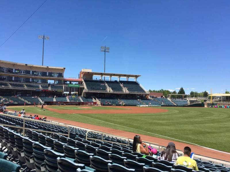 Seating view for Isotopes Park Section 122 Row M Seat 10