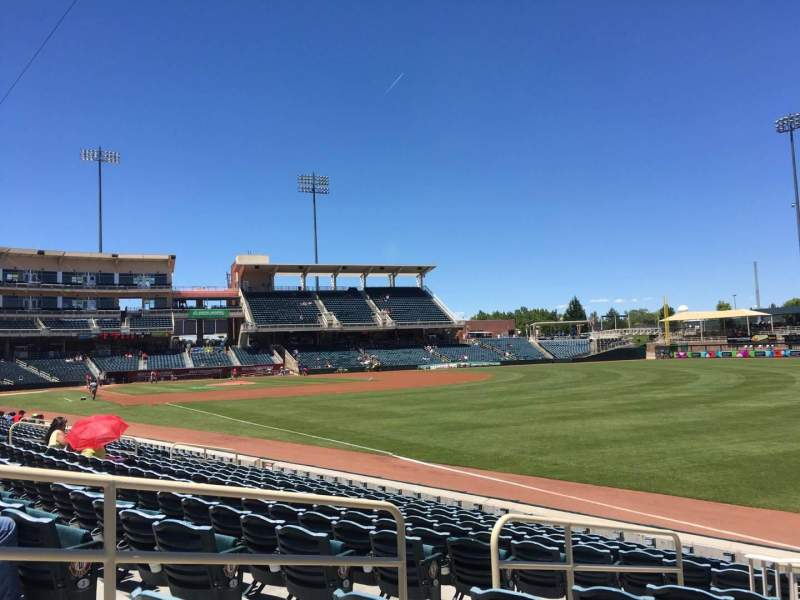 Seating view for Isotopes Park Section 124 Row L Seat 12