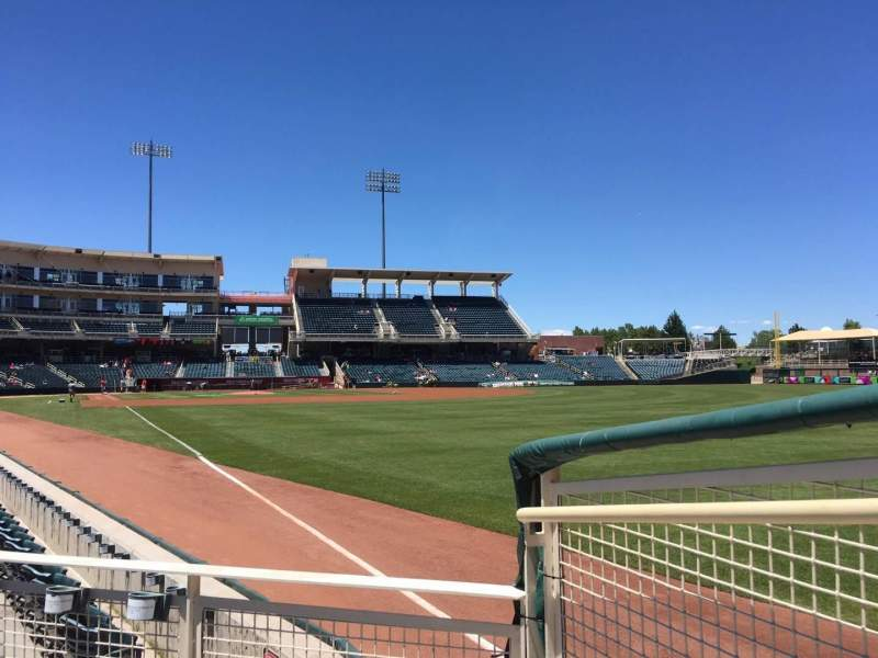 Seating view for Isotopes Park Section 126 Row G Seat 1