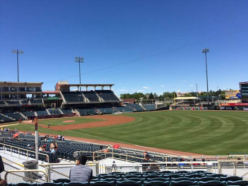 Seating view for Isotopes Park Section 128 Row J Seat 6
