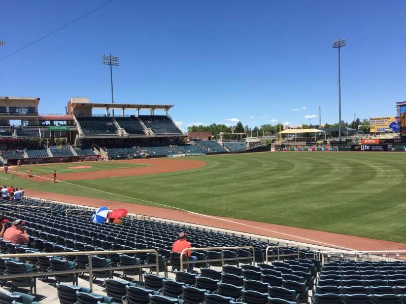 Seating view for Isotopes Park Section 124 Row Bar Rail Seat 12
