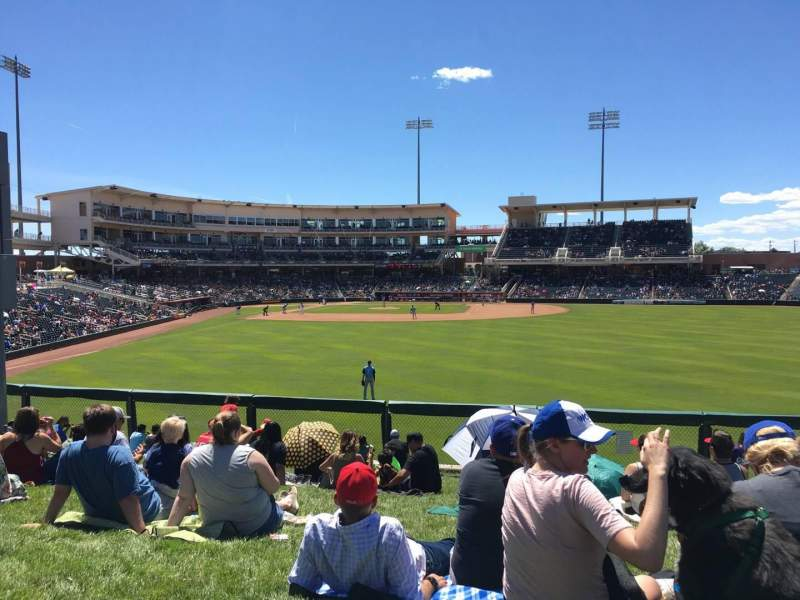 Seating view for Isotopes Park Section Lawn