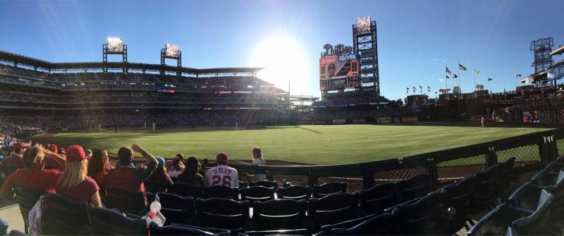 Citizens Bank Park, section: 109, row: 7, seat: 14