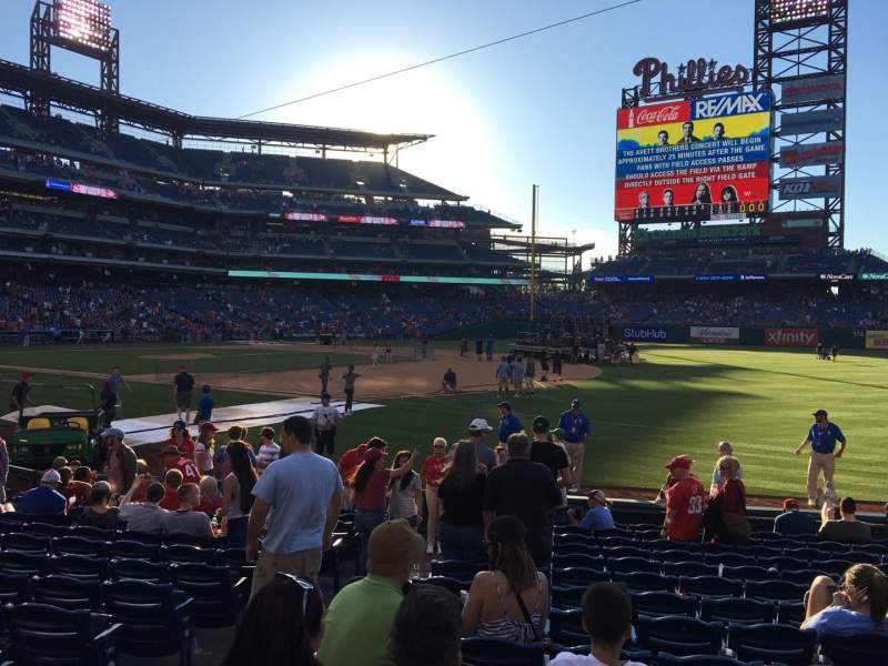 Seating view for Citizens Bank Park Section 112 Row 14 Seat 17