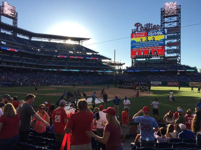 Seating view for Citizens Bank Park Section 113 Row 12 Seat 13