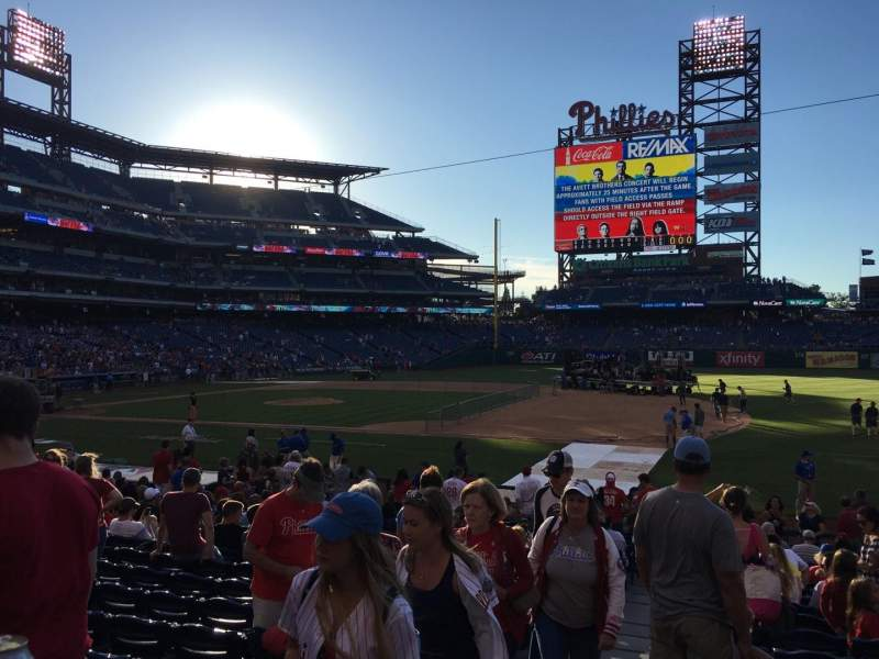 Seating view for Citizens Bank Park Section 114 Row 21 Seat 15