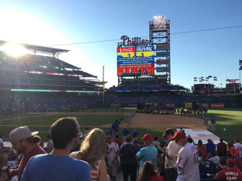 Seating view for Citizens Bank Park Section 115 Row 15 Seat 18