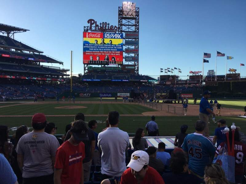 Seating view for Citizens Bank Park Section 117 Row 8 Seat 4