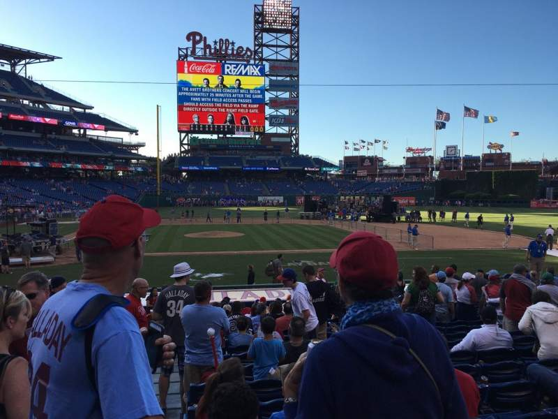 Seating view for Citizens Bank Park Section 118 Row 17 Seat 18