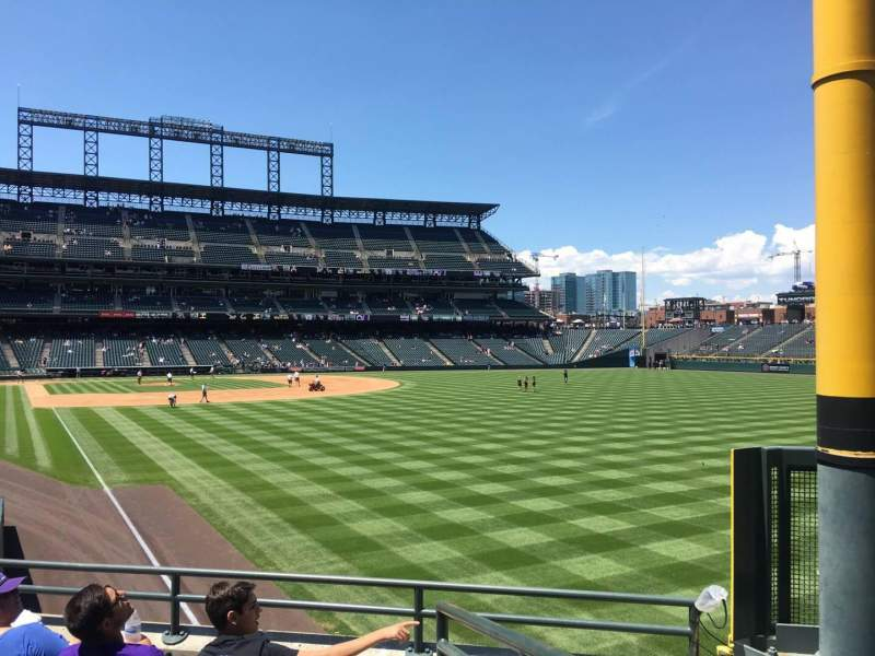 Seating view for Coors Field Section 110 Row 24 Seat 1