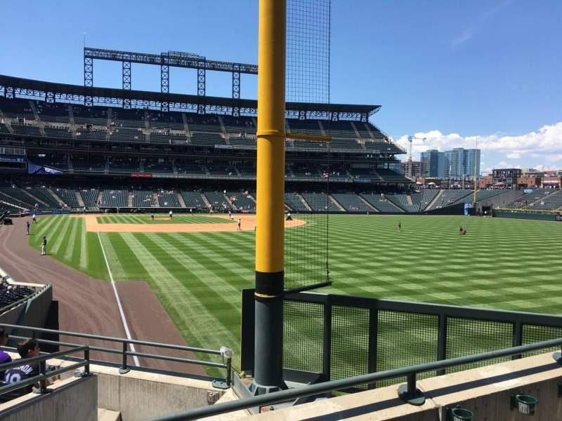 Seating view for Coors Field Section 109 Row 3 Seat 7