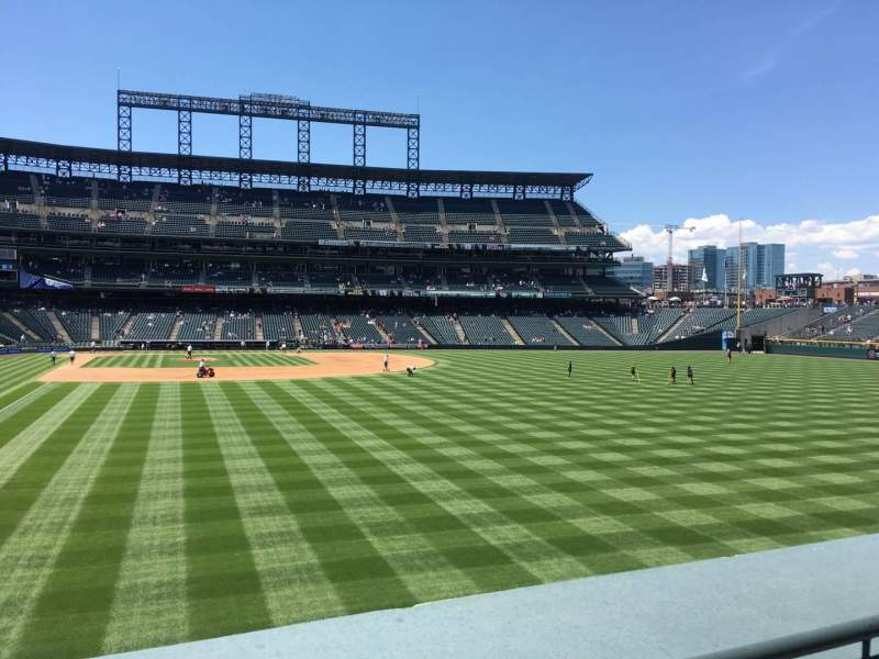 Seating view for Coors Field Section 108 Row 3 Seat 4