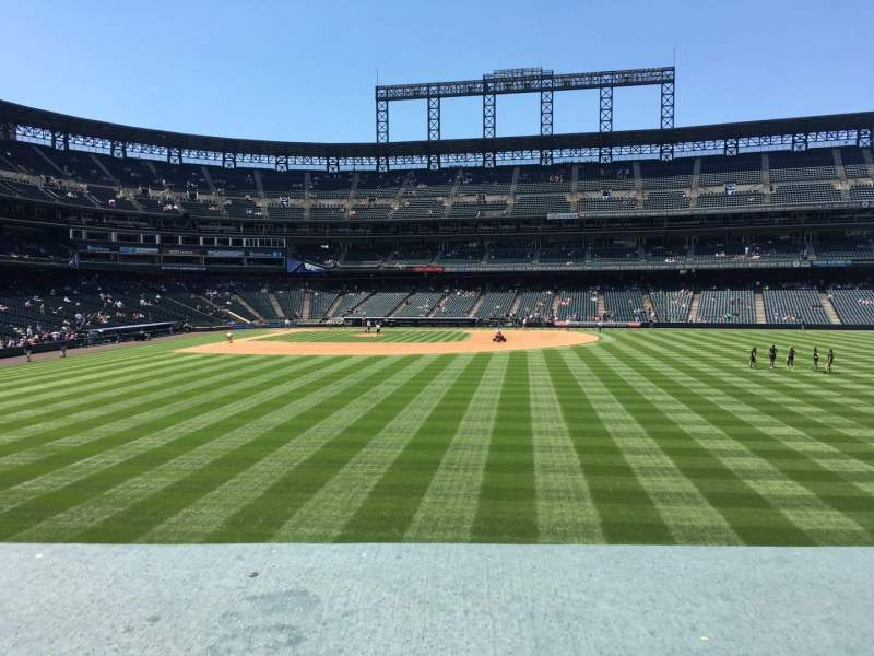 Seating view for Coors Field Section 105 Row 2 Seat 8