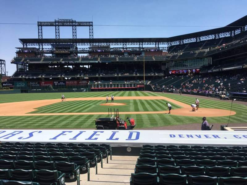 Seating view for Coors Field Section 136 Row 16 Seat 14