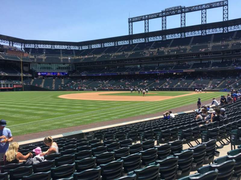 Seating view for Coors Field Section 145 Row 12 Seat 10