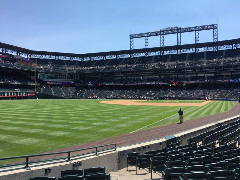 Seating view for Coors Field Section 148 Row 12 Seat 2