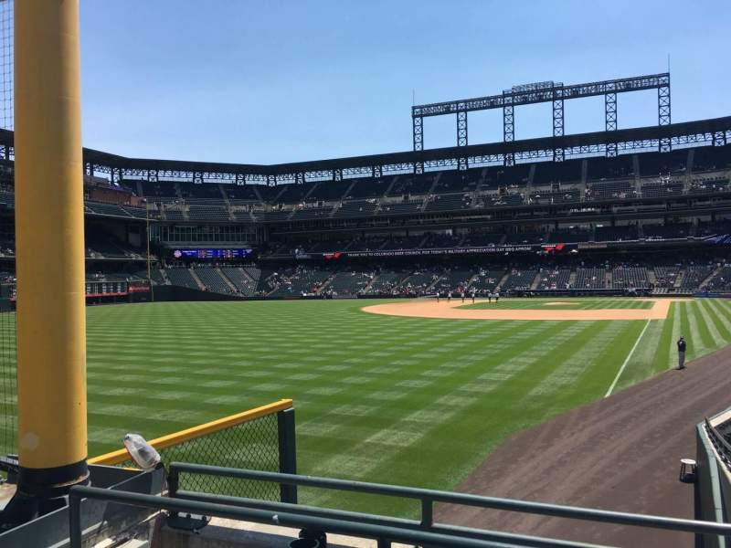 Seating view for Coors Field Section 149 Row 22 Seat 9