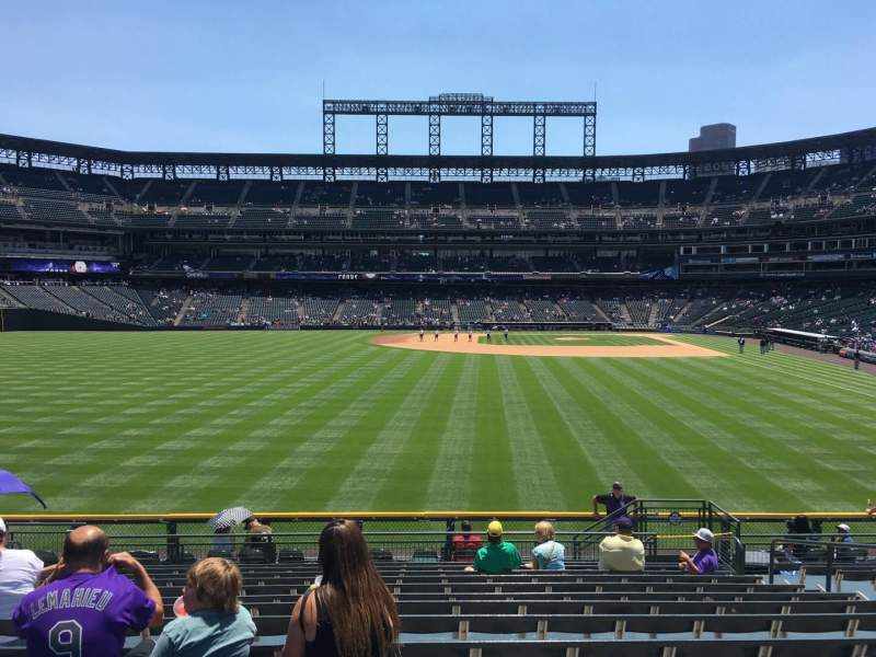Seating view for Coors Field Section 153 Row 15 Seat 8