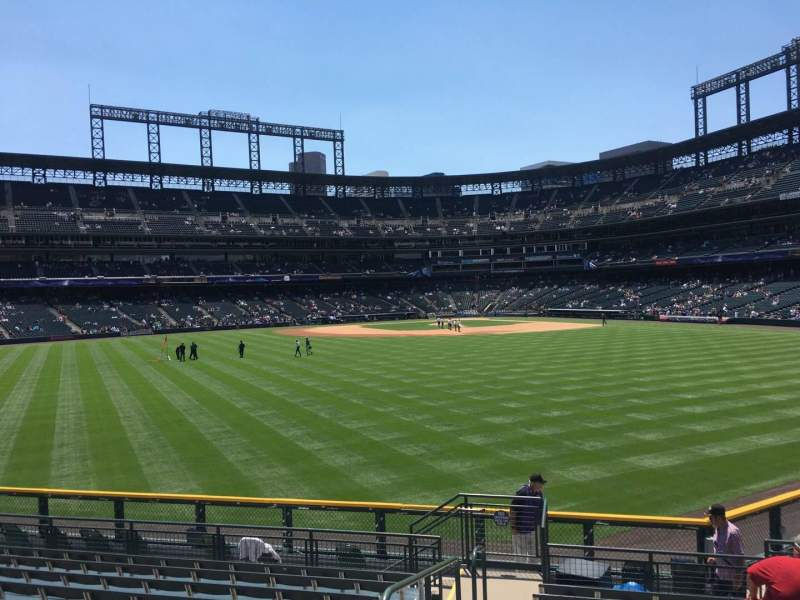 Seating view for Coors Field Section 158 Row 12 Seat 12