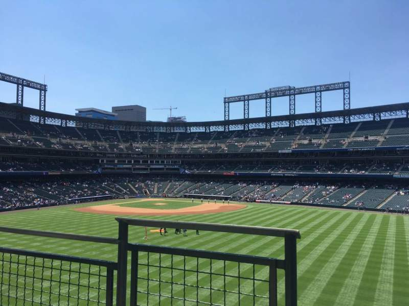Seating view for Coors Field Section 201 Row 2 Seat 9