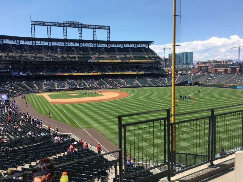 Seating view for Coors Field Section 209 Row 3 Seat 6