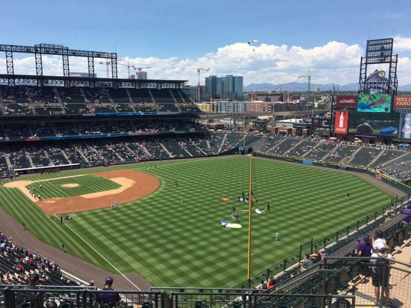 Seating view for Coors Field Section U311 Row 15 Seat 4