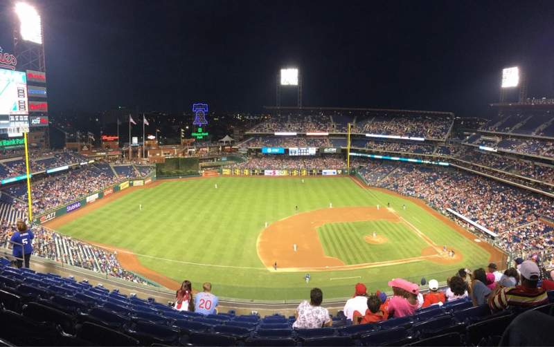 Seating view for Citizens Bank Park Section 427 Row 8 Seat 13