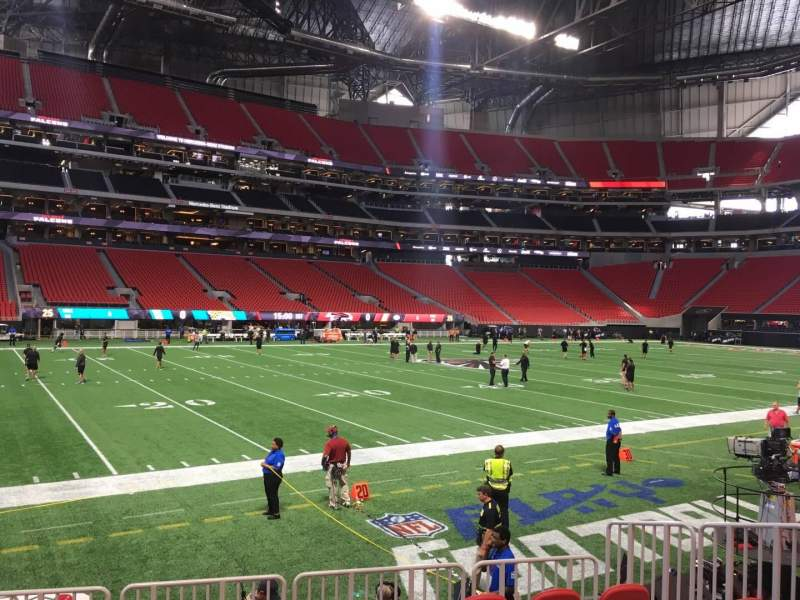 Seating view for Mercedes-Benz Stadium Section 131 Row 7 Seat 10