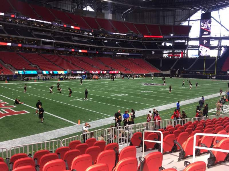 Seating view for Mercedes-Benz Stadium Section 115 Row 11 Seat 5