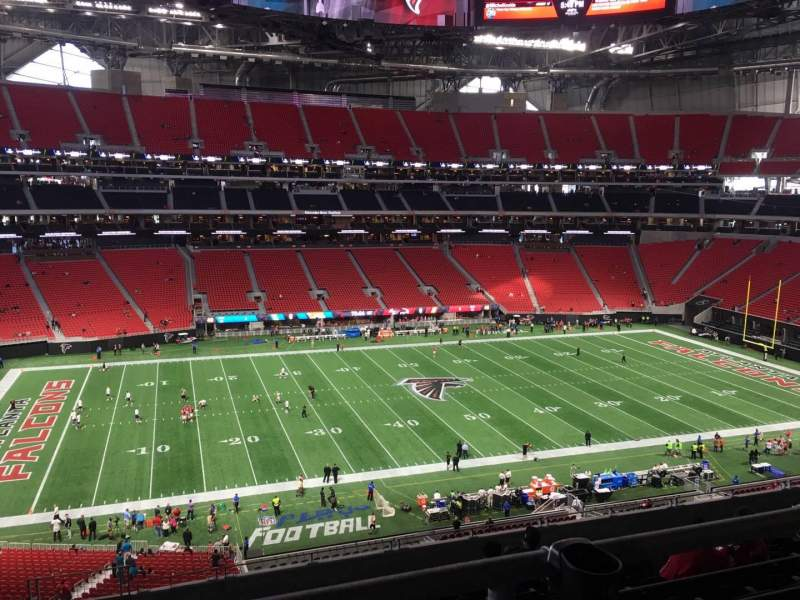 Seating view for Mercedes-Benz Stadium Section 240 Row 12A Seat 19