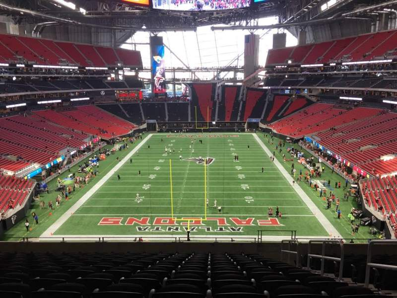 Mercedes benz stadium section 224 row 12 seat 3 for Hotel near mercedes benz stadium atlanta