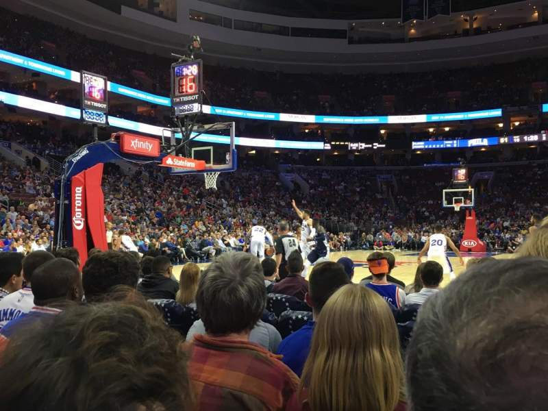 Seating view for Wells Fargo Center Section 120 Row E Seat 16