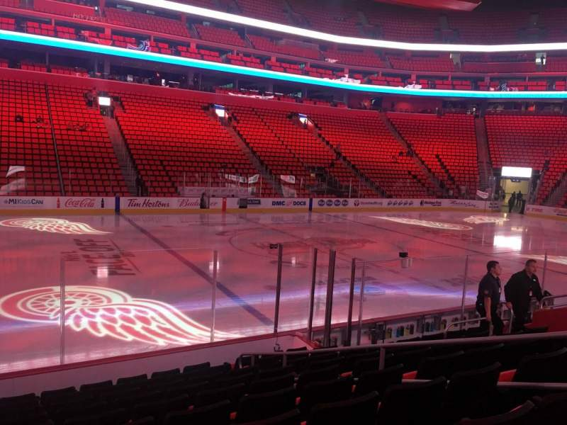 Seating view for Little Caesars Arena Section 124 Row 10 Seat 14